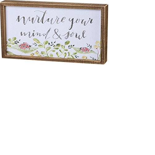 Primitives by Kathy Nurture Your Mind and Soul Inset Box Sign