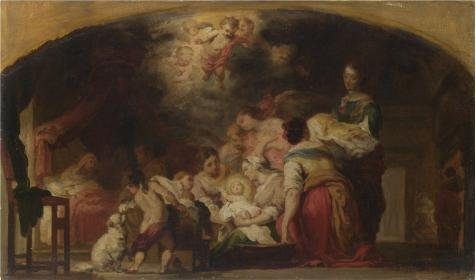 ['After Bartolome Esteban Murillo- The Birth Of The Virgin,after 1804' Oil Painting, 30x51 Inch / 76x130 Cm ,printed On High Quality Polyster Canvas ,this Replica Art DecorativePrints On Canvas Is Perfectly Suitalbe For Game Room Decoration And Home Artwork And] (Kangaroo Costume Rental)