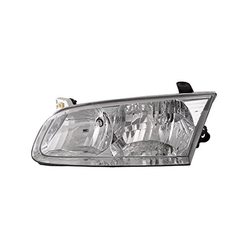 HEADLIGHTSDEPOT Chrome Housing Halogen Headlight Compatible with Toyota Camry 2000-2001 Includes Left Driver Side Headlamp 2001 Drivers Side Headlamp