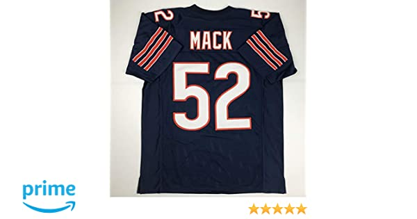 30c1f59e Amazon.com: Unsigned Khalil Mack Chicago Blue Custom Stitched ...