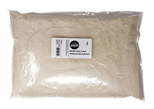 Epigrain Brown Rice Flour - 4.4 lb (2 Kg) | Premium Quality, Gluten Free, Vegan, All Natural