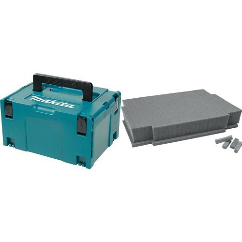 "Makita 197212-5 Interlocking Case, Large 8-1/2"" x 15-1/2"" x 11-5/8"" with Customizable Foam Insert"