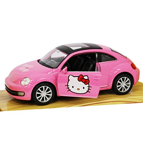 amazoncom hello kitty volkswagen kids buggy die cast pull back go action toys games