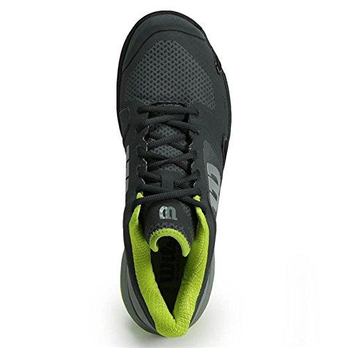 Wilson Wrs322600e085, Chaussures de Tennis Homme, Gris (Ebony / Monument / Lime Punch), 42 2/3 EU