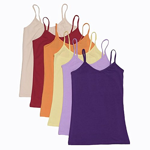 6-PACK-Camisoles-for-Women-Annas-Tank-Top-Shirts-in-Many-Colors-S-EX