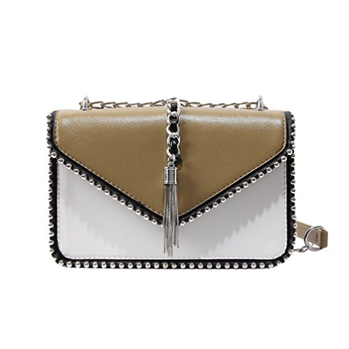 CHENYANG Khaki Dark Small Bag Evening Handbag Body Shoulder Mini Gold Cross Women Bag Chain Clutch Classic aa6SZAr