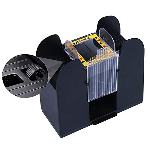 - Lijuan Qin Electric Automatic Card Shuffler, Electric Board Game Cards Shuffler Six Decks, Classic Poker and Trading Card Games Supplies for Home and Tournament Use