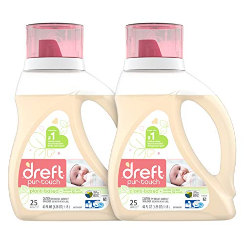 Dreft Purtouch Baby Liquid Laundry Detergent, Hypoallergenic for Baby, Infant or...