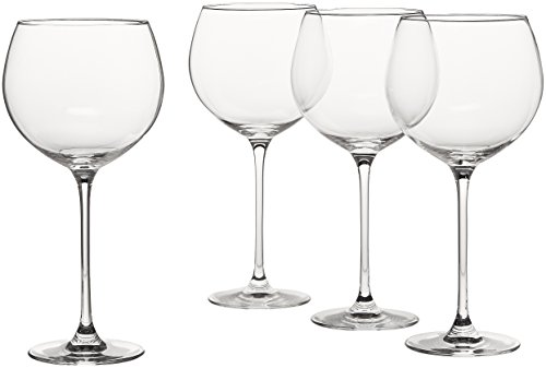 Tissue Bubble Fish - Lenox L6099808-000 Tuscany Classics Grand Beaujolais (Set of 4), Clear