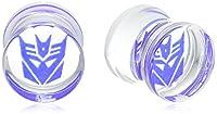 Hasbro Jewelry Unisex Transformers Decepticon Acrylic Single Flared Plugs