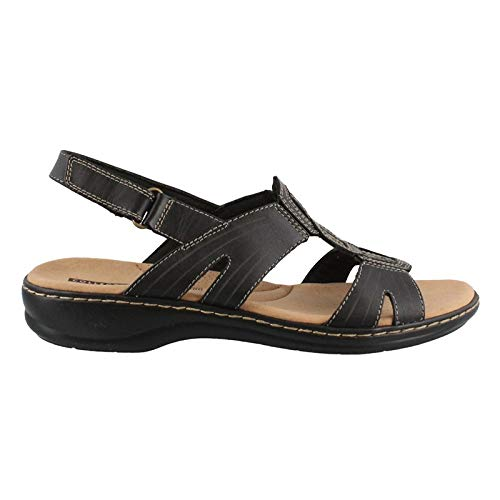 - CLARKS Women's Leisa Vine Platform, Black Leather, 9 Narrow US