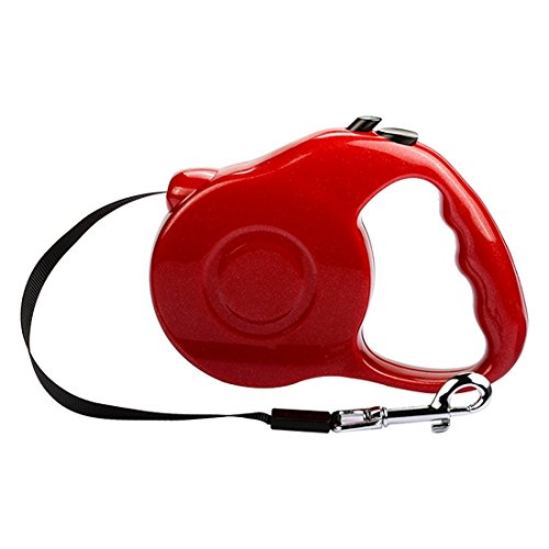 LEDMO Retractable Dog Leash,Sturdy Nylon Pet Leashes, Comfortable Hand Grip,Traction Rope Extends 10ft, Great for Small & Medium Dogs up to 25lbs