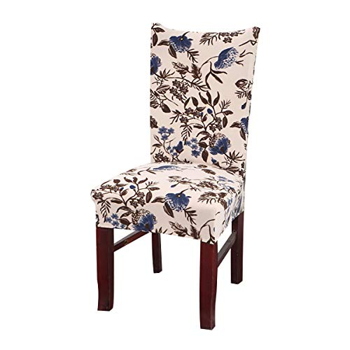 Vonty Floral Printed Dining Chair Cover Stretch Removable Chair Slipcover Protector 1 Piece, Flower 2