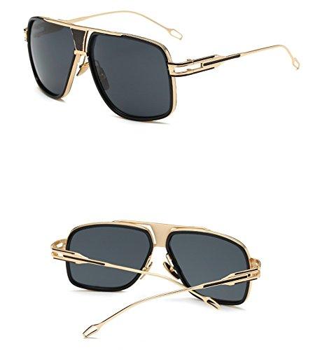 Box Gafas Sol The Elegantes Con Retro Y Parejas Sol De WHLDK De Gray Is Gafas Redonda Hombres Sol Los De Estilo Big Gafas Box Cara wxAUR1qfB