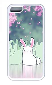 iPhone 5c case, Cute Bunny iPhone 5c Cover, iPhone 5c Cases, Soft Whtie iPhone 5c Covers