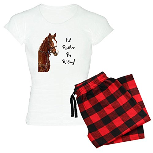 - CafePress - Id Rather Be Riding! Horse - Womens Novelty Cotton Pajama Set, Comfortable PJ Sleepwear