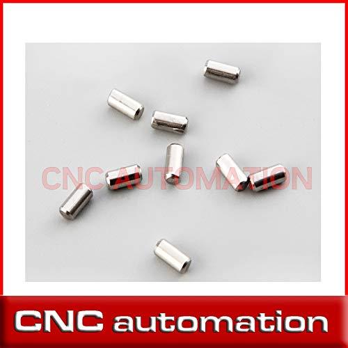 Ochoos 50pcs Chrome Steel Cylindrical Dowel Locating Pin M4 4MM 4/5/6/7/8/9 mm Rail - (Length: 4x4)