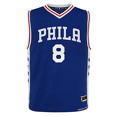 NBA Philadelphia 76ers Jahlil Okafor Youth Boys Replica Player Road Jersey, Medium (10-12), Blue