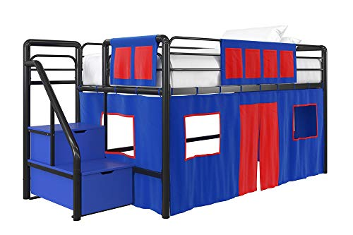 DHP 4314429SET Loft Bed with Slide 3