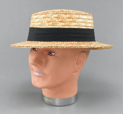 St Trinian's Costume Uk (Retro Style Straw Boater Hat)