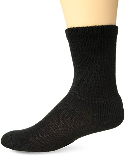 (Thorlos Unisex WGX Work Padded Crew Sock, Black, Large)