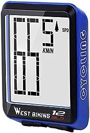TOOYFUL Computer Waterproof Large Screen Wireless Cycle Computer - Speedometer & Odometer - Performance &a