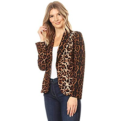 Women's Solid Basic Casual Long Sleeves Work Office Outerwear Blazer Jacket Made in USA at Women's Clothing store