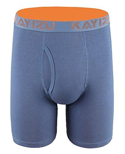 KAYIZU Men's Underwear Comfort Soft Cotton Stretch Boxer Briefs Infinity Blue 1-Pack Small
