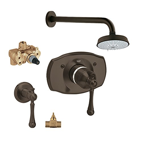Grohe KS19327-34124RV4-ZB0 Bridgeford Shower Valve Kit, Oil Rubbed Bronze