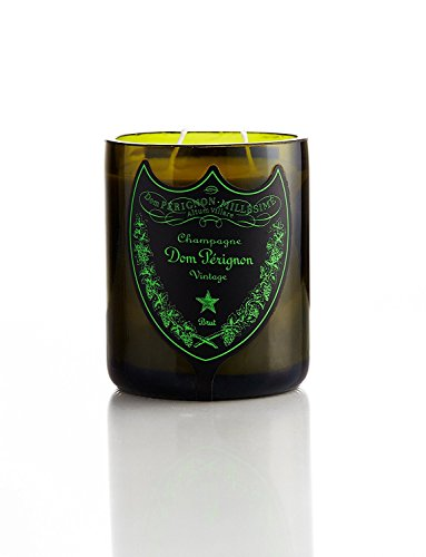 TRP Upcycled Handmade Champagne Candle Dom Perignon brut Luminous 75cl Original Bottle Gift Interior Design (Chandon Champagne Gift)