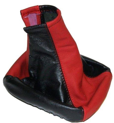 Aerzetix Funda Palanca de Cambio Piel 100/% Cuero Rojo//Negro Para Citroen Xsara 1 1997-2000