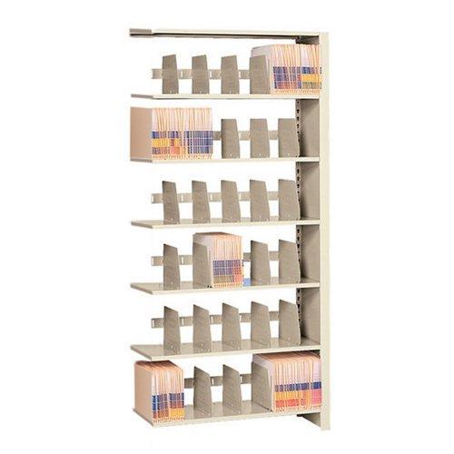 Tennsco 1576AC Imperial Open Shelf Filing Unit, Single Entry Add-On, 7 Shelves/6 Openings, 36