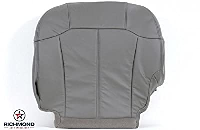 1999-2002 Chevy Silverado 2500HD LT LS Diesel Vortec Lifted OnStar Bose LT1 LT2 LT3 Driver Side Bottom Replacement Leather Seat Cover, Gray by Richmond Auto Upholstery