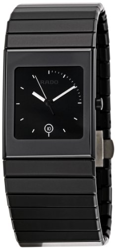 Rado Men's R21713152 Ceramica Black Dial Watch (Jubile Rado Ceramica)