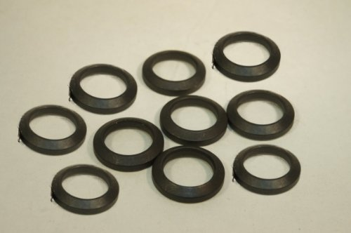 10 piece .223 5.56 Rifle 1/2x28 Thread Barrel Muzzle Device Steel Crush Washer