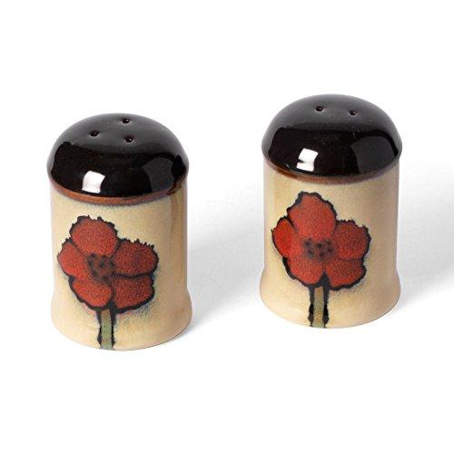 Pfaltzgraff Painted Poppies Salt and Pepper Shaker Set (Sets Poppy Dinnerware)