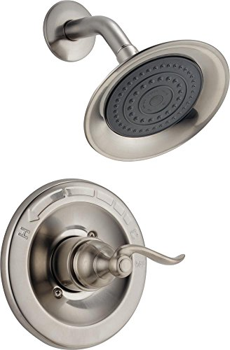 Delta Nickels - Delta Faucet Windemere Single-Function Shower Trim Kit with Single-Spray Shower Head, Stainless BT14296-SS (Valve Not Included)