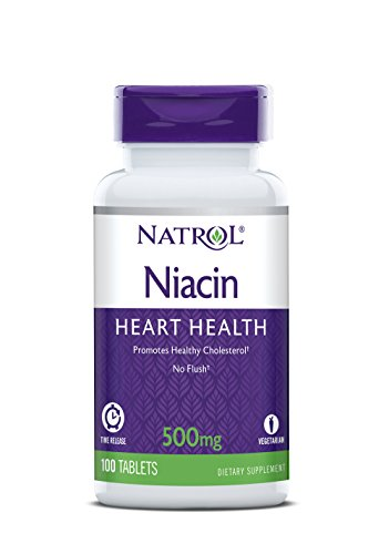 - Natrol Niacin Time Release 500mg Tablets, 100-Count