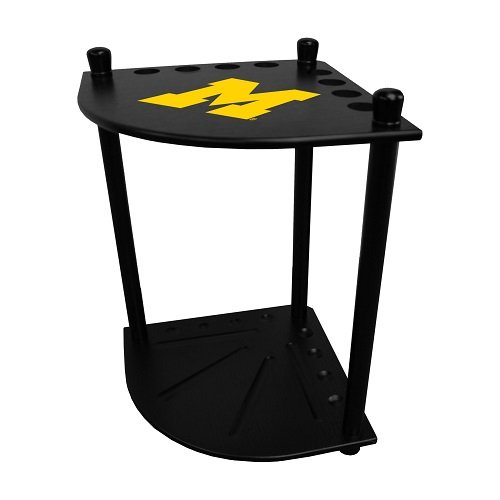 Imperial University of Michigan Corner Cue Rack w/Officially Licensed Logo