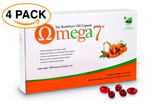Pharma Nord Omega 7 Sea Buckthorn Oil - 4 Pack (600 Capsules) by Pharma Nord