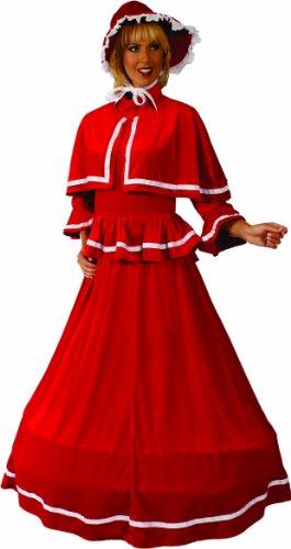 Alexanders Costumes Dickens Christmas Dress, Red, Medium