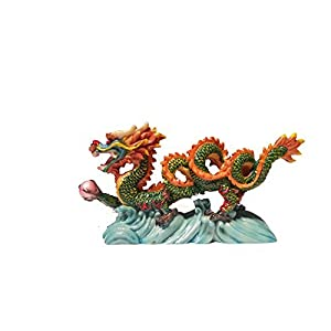 NEW Chinese Feng Shui Dragon Figurine Statue for Luck & Success #S
