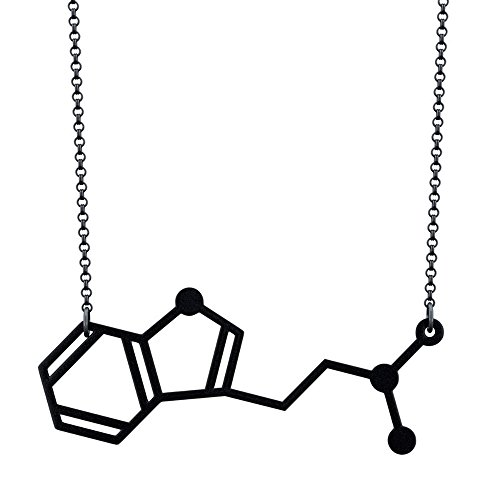 DMT Molecule Pendant Necklace (The Spirit Molecule) (Black)