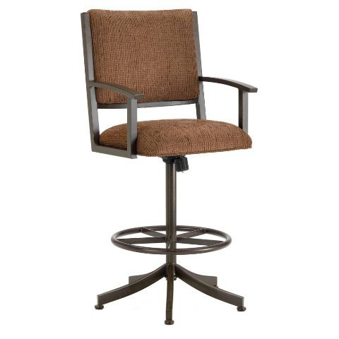 Iron Mountain Executive Tilt Swivel Bar Stool with 30-Inch Seat Height, Rust