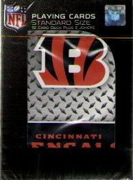 Cincinnati Bengals Playing Cards Diamond Plate