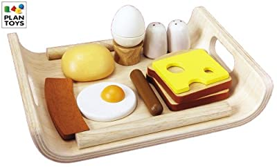 Plan Toys Breakfast Menu (Solid Wood Version)