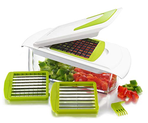 (Sharper Image 4 in 1 Magic Chopper - Chop, Slice, Dice, Store all Your Fruits and Vegetables - NO MORE TEARS!)