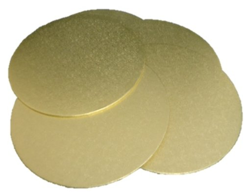 5 X Gold Round Circle Cake Boards 250mm 10