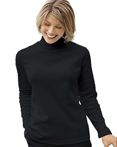 - UltraSofts Mock Turtleneck, Black, Medium