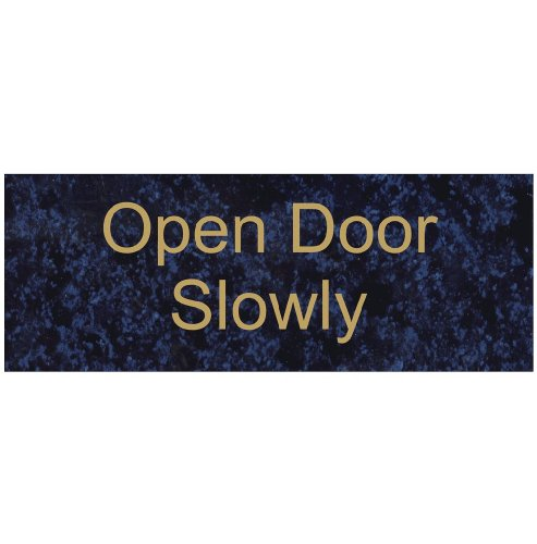 - ComplianceSigns Engraved Acrylic Exit Gates or Doors Sign, 8 x 3 in. with English, Celestial Blue